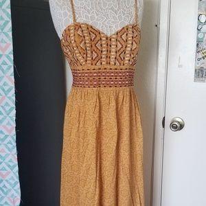 Beautiful mustard yellow/tribal maxi dress